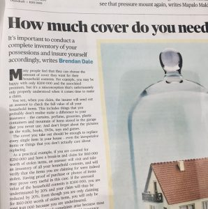 City Press article on household contents insurance