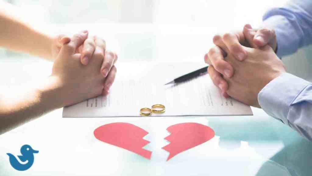 How are retirement funds split in a divorce