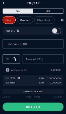 Buy on ETH Exchange
